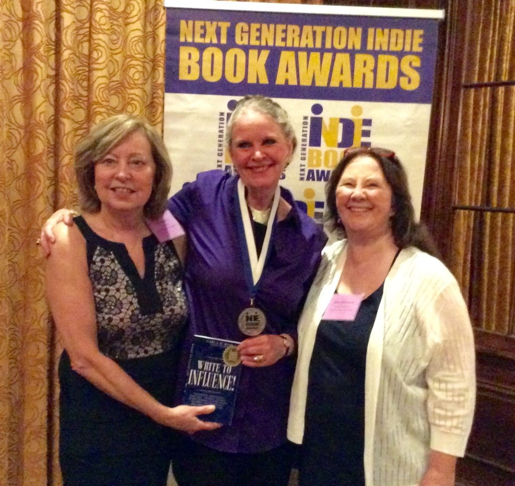 Carla and her book win the first award -- inspirational for her highly acclaimed writing workshops
