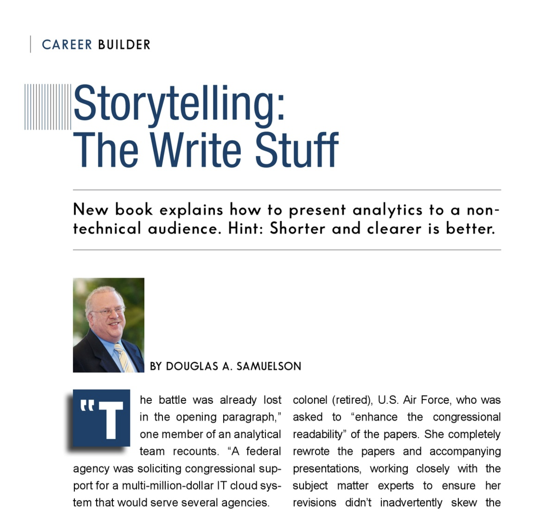 Career Builder Article - Storytelling