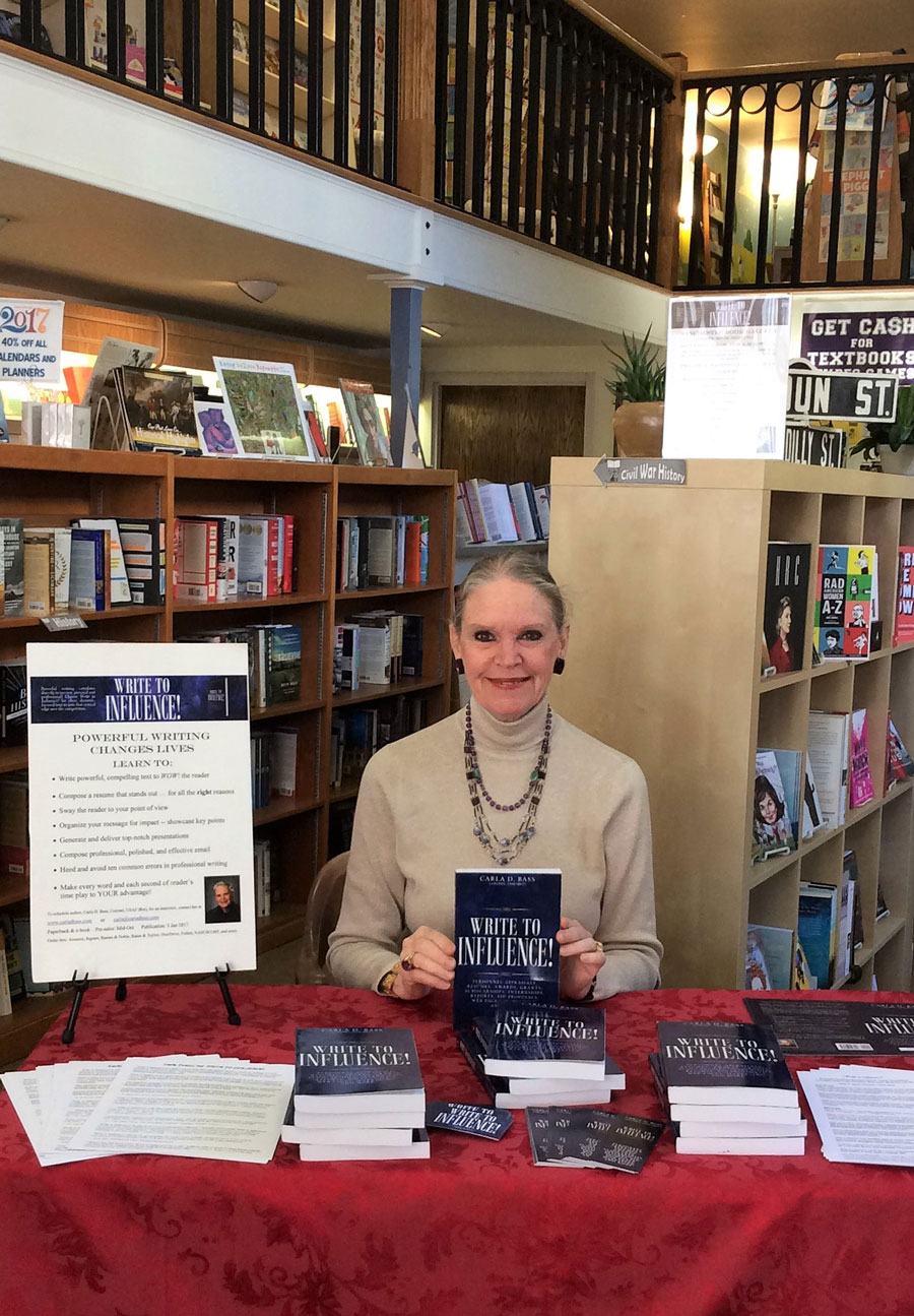 Carla Bass at Book Signing