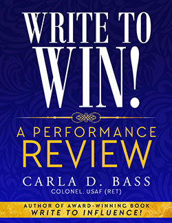 "Cover of e-book ""Write to Win! A Performance Review by Carla D. Bass"